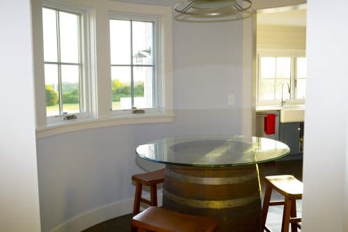 Barrel Seating off Kitchen